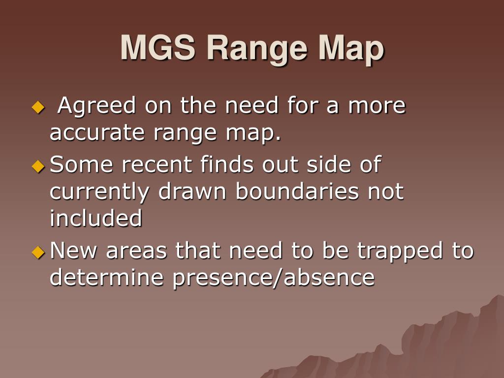 MGS Range Map