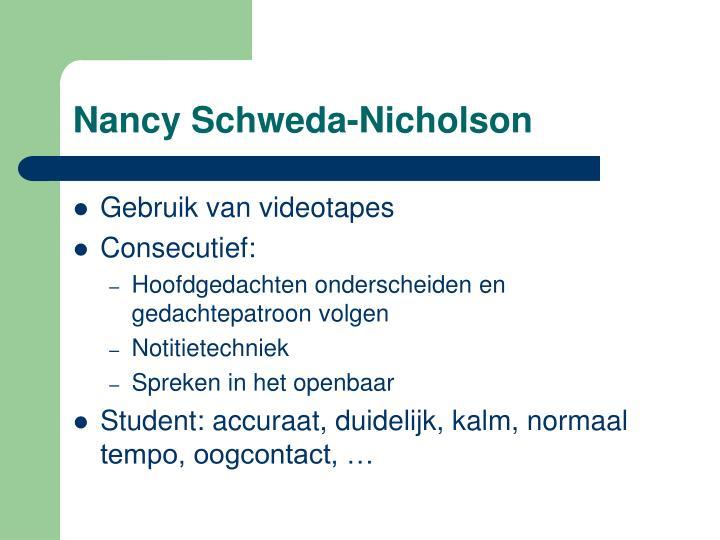 Nancy Schweda-Nicholson