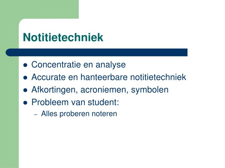 Notitietechniek