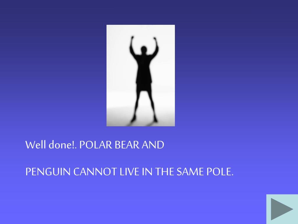 Well done!. POLAR BEAR AND