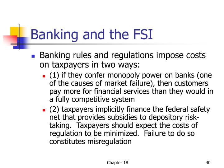 Banking and the FSI