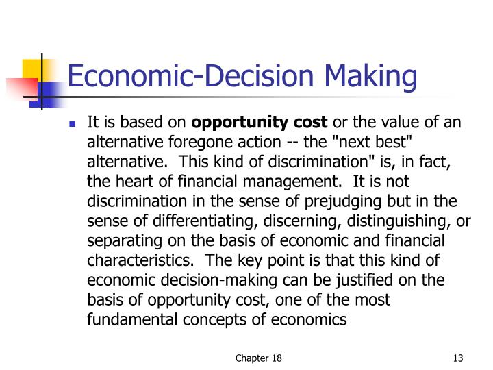 Economic-Decision Making