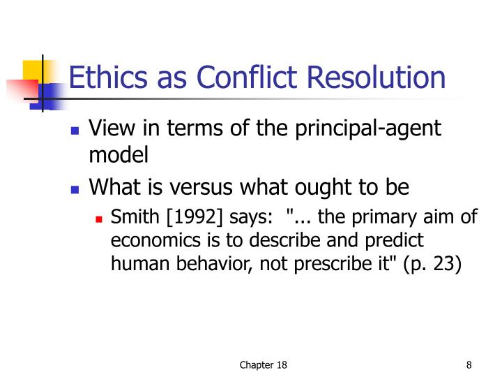 Ethics as Conflict Resolution