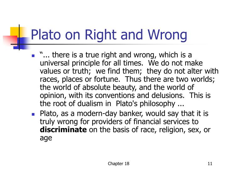 Plato on Right and Wrong