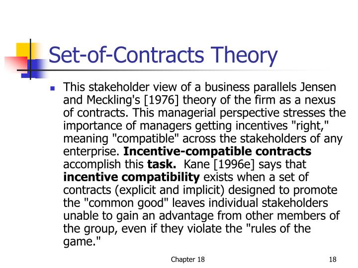 Set-of-Contracts Theory