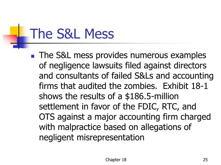 The S&L Mess