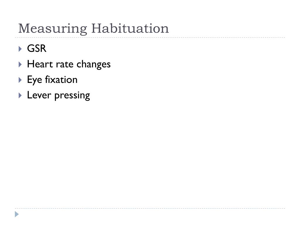 Measuring Habituation