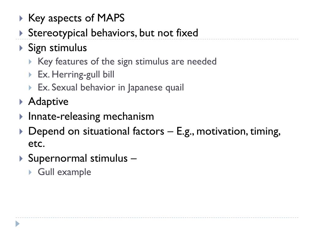 Key aspects of MAPS