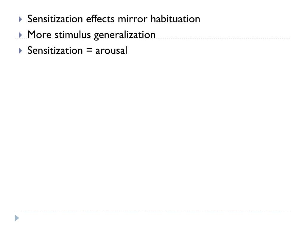 Sensitization effects mirror habituation