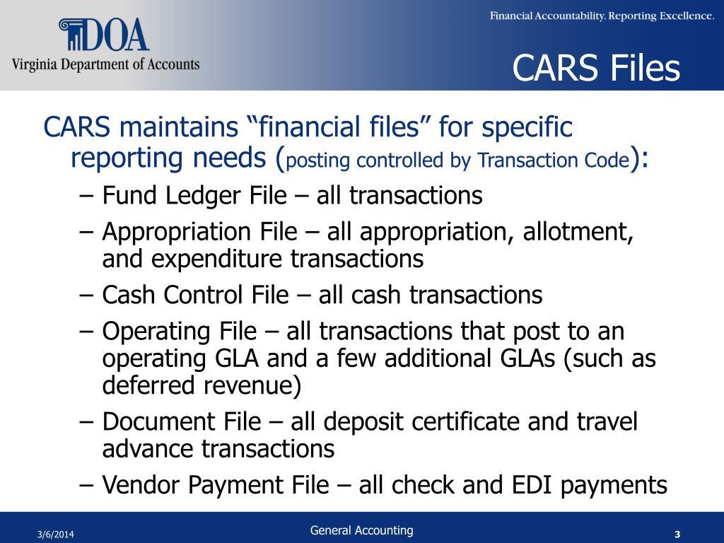 CARS Files