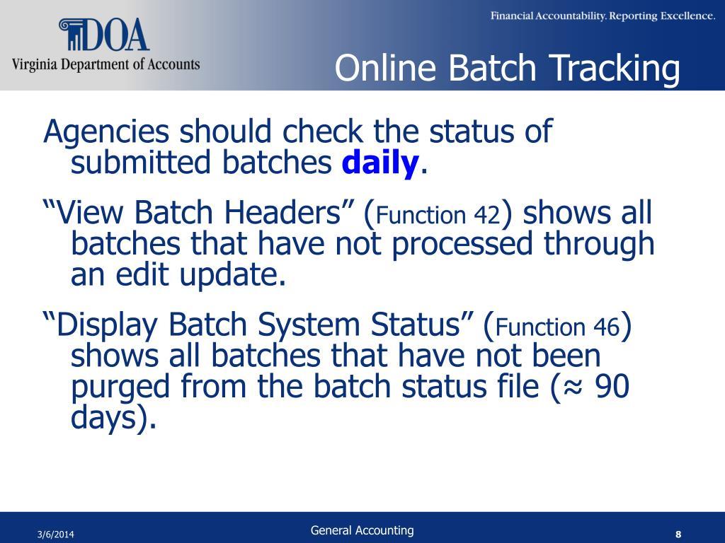 Online Batch Tracking