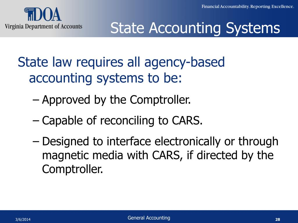 State Accounting Systems