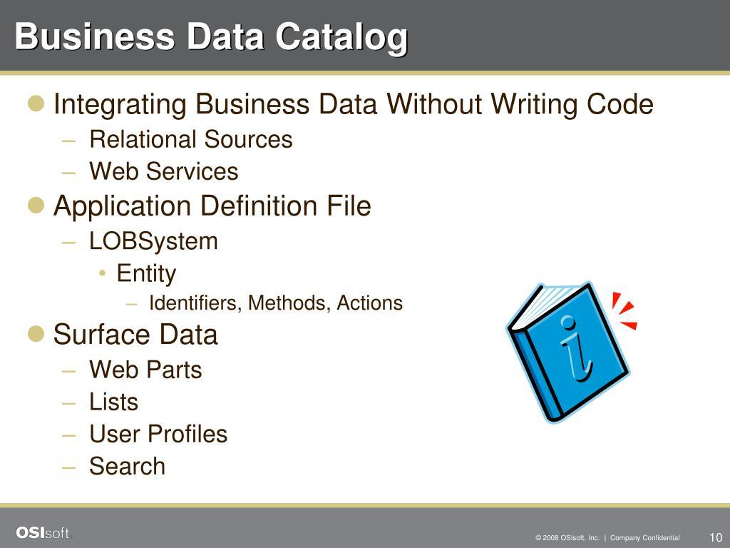 Business Data Catalog
