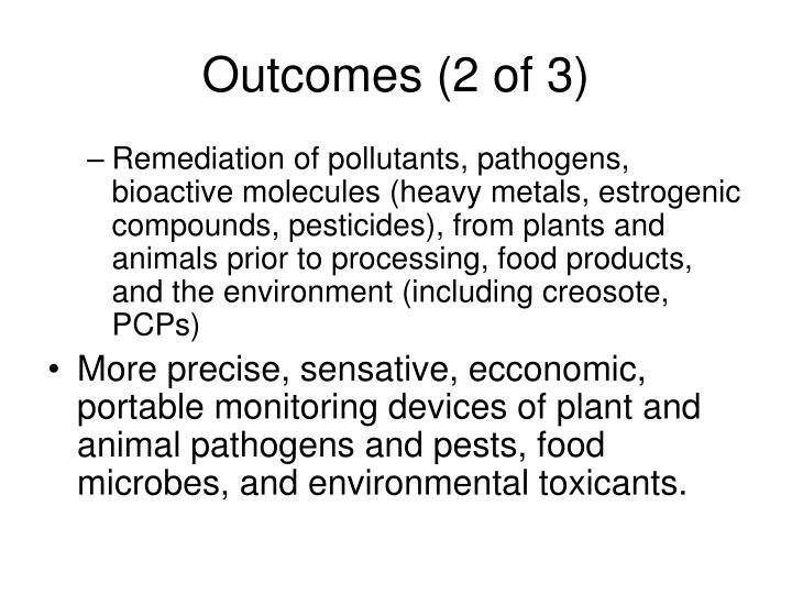 Outcomes (2 of 3)