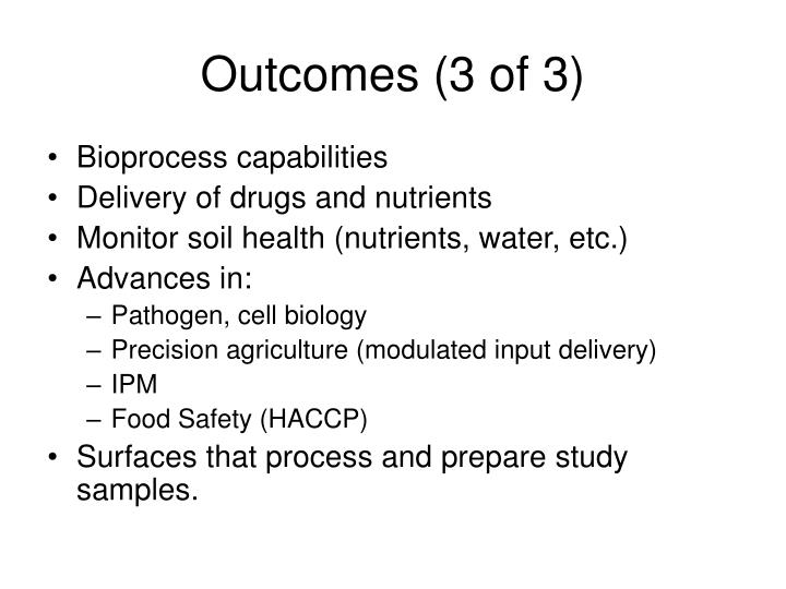 Outcomes (3 of 3)