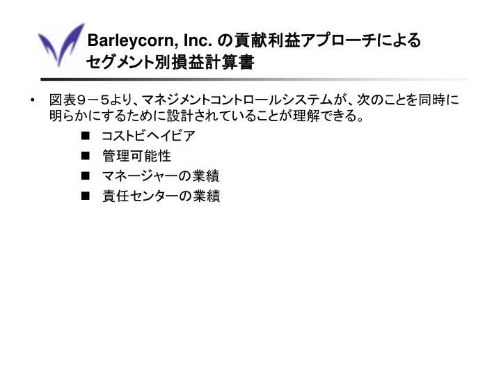 Barleycorn, Inc.