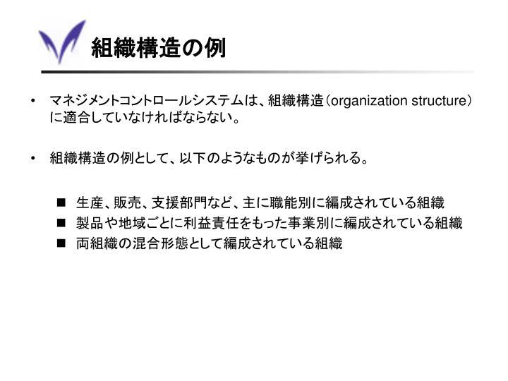 組織構造の例
