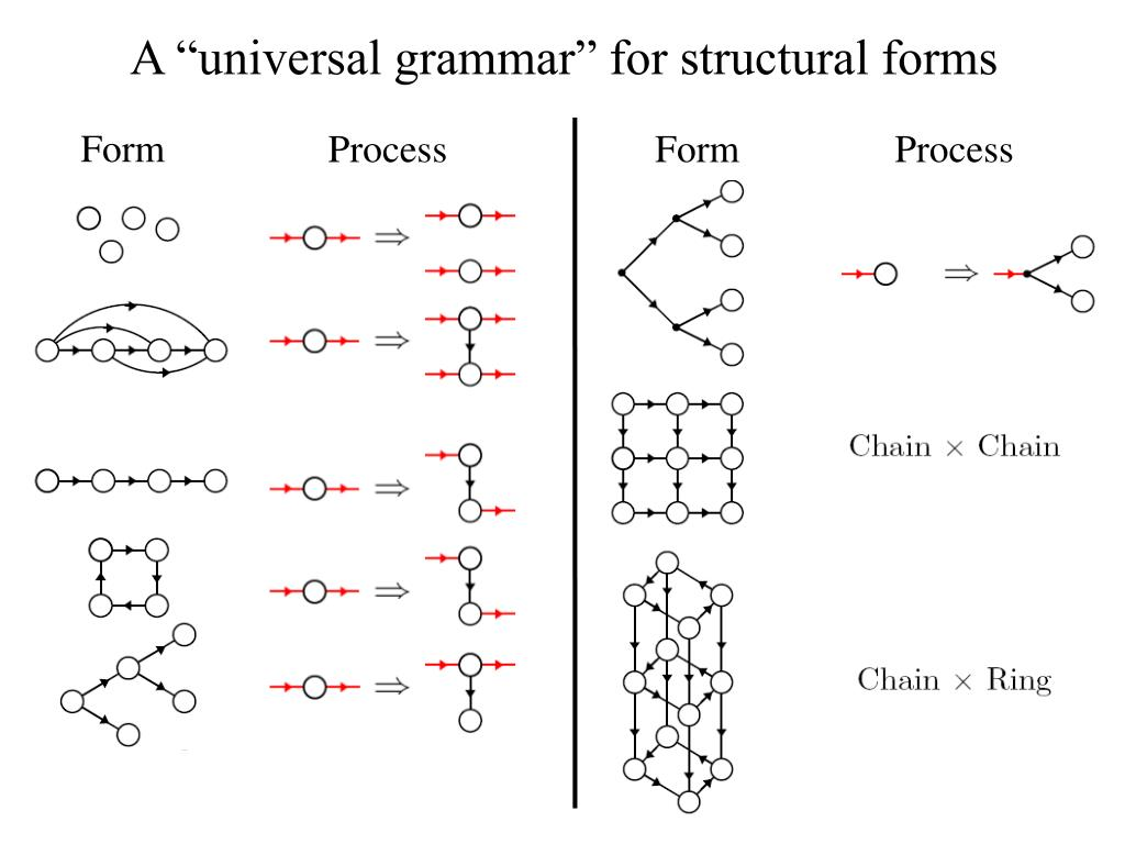 "A ""universal grammar"" for structural forms"