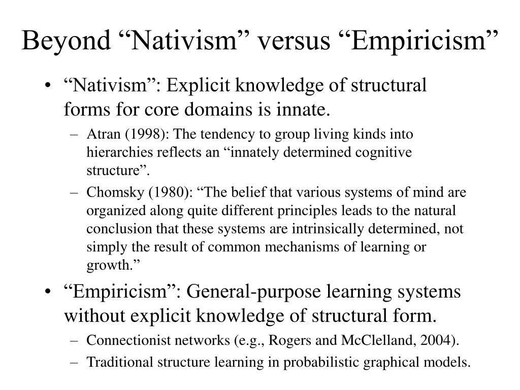 "Beyond ""Nativism"" versus ""Empiricism"""
