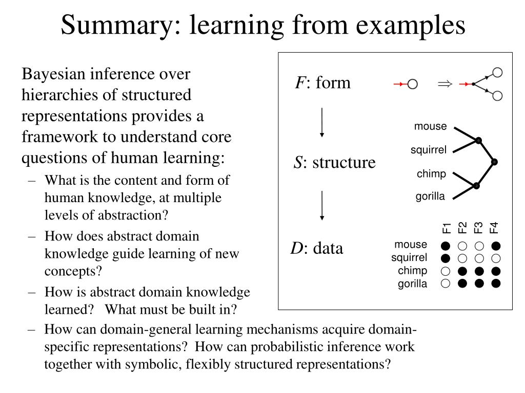 Summary: learning from examples