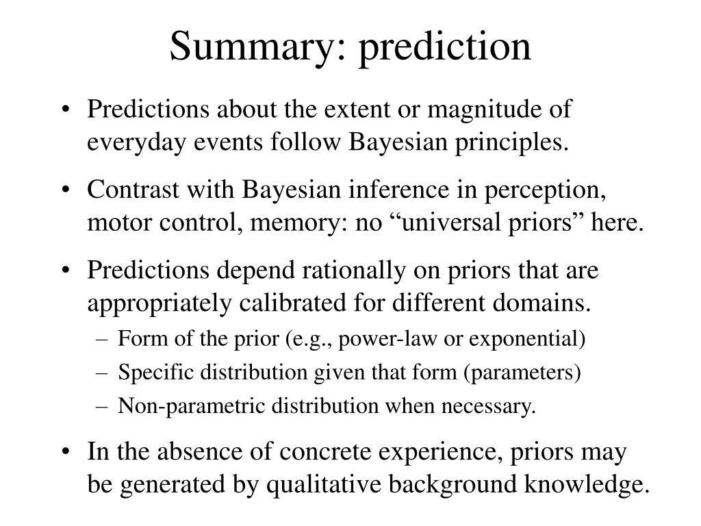 Summary: prediction