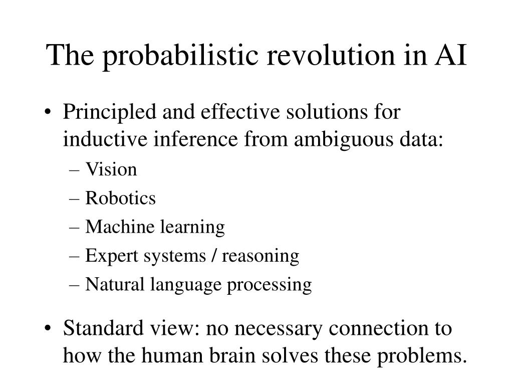 The probabilistic revolution in AI