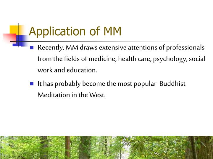 Application of MM
