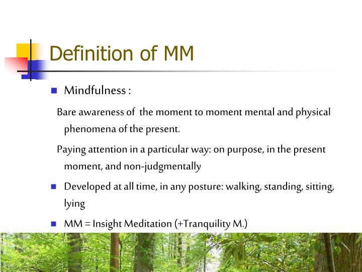 Definition of MM