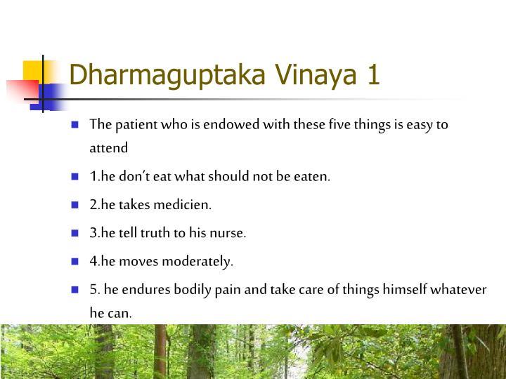 Dharmaguptaka Vinaya 1