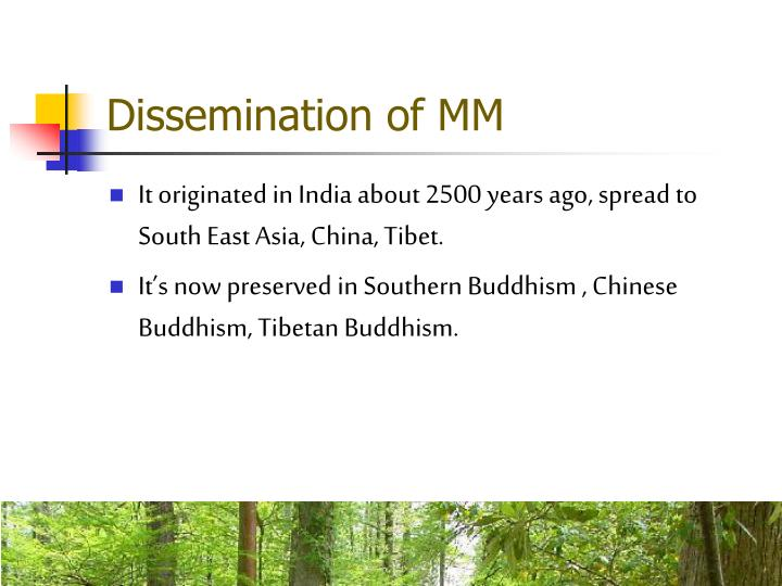 Dissemination of MM