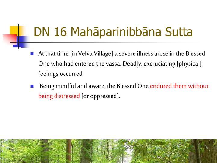 DN 16 Mahāparinibbāna Sutta