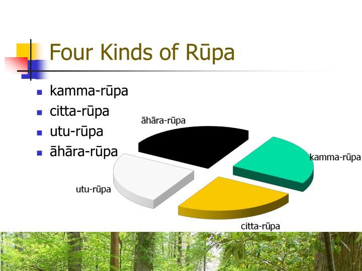 Four Kinds of Rūpa