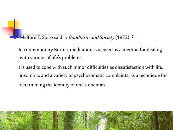 Melford E. Spiro said in