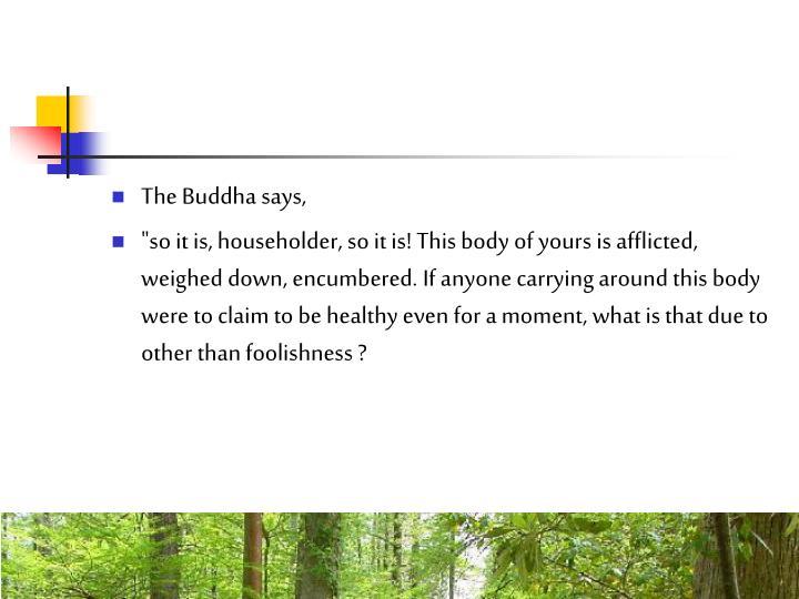 The Buddha says,