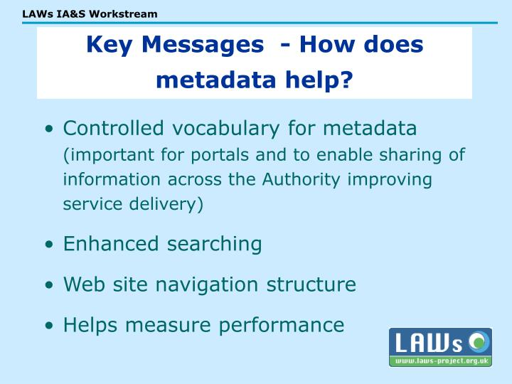 Controlled vocabulary for metadata