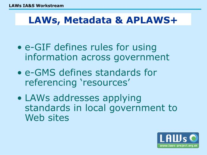 e-GIF defines rules for using information across government