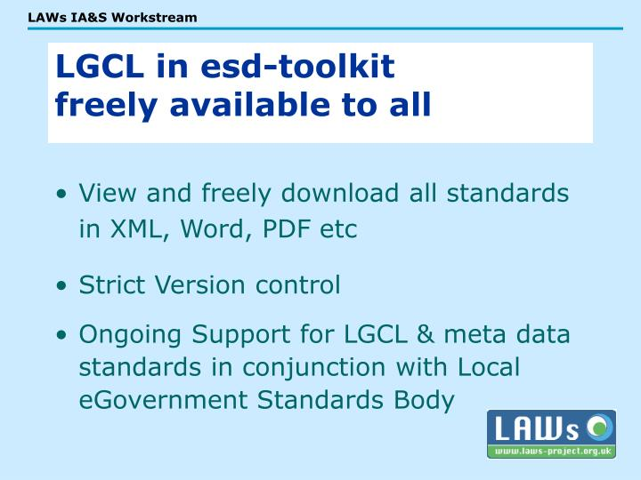 View and freely download all standards in XML, Word, PDF etc