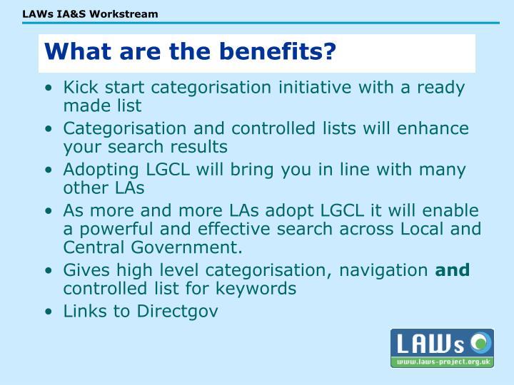 Kick start categorisation initiative with a ready made list
