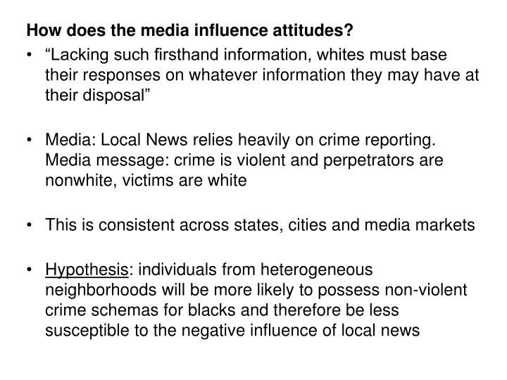 How does the media influence attitudes?
