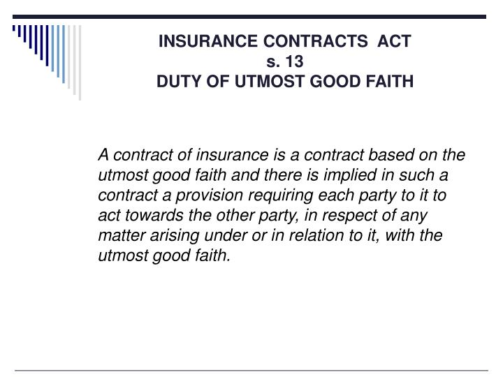 INSURANCE CONTRACTS  ACT