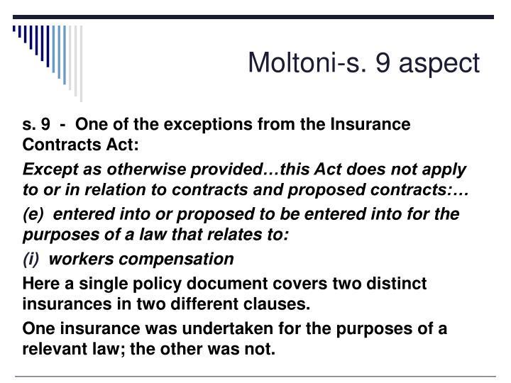 Moltoni-s. 9 aspect