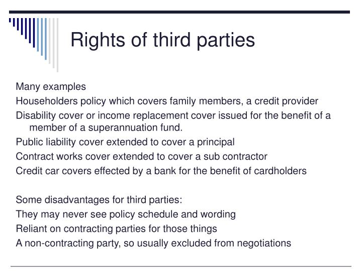 Rights of third parties