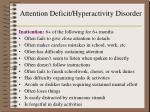 attention deficit hyperactivity disorder1