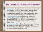 tic disorder tourette s disorder