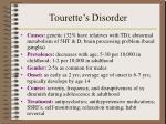 tourette s disorder