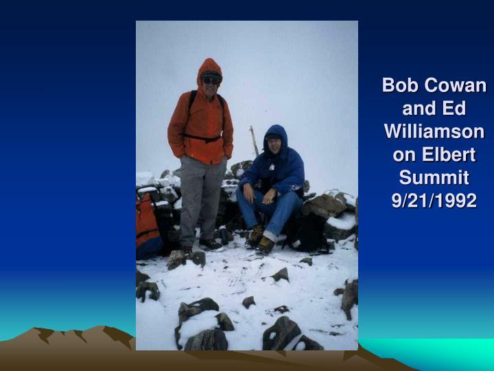 Bob Cowan and Ed