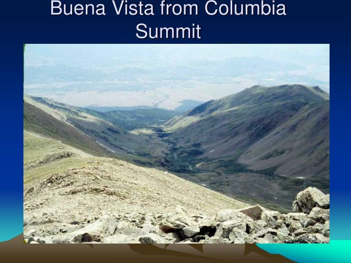 Buena Vista from Columbia Summit