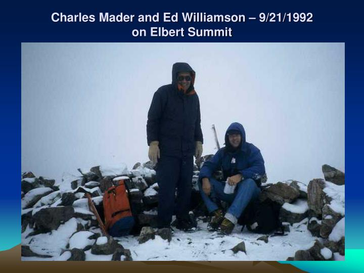 Charles Mader and Ed Williamson – 9/21/1992