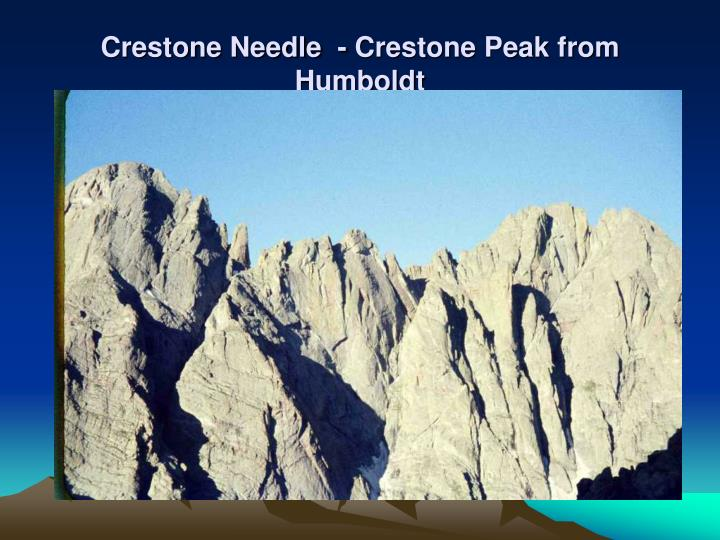 Crestone Needle  - Crestone Peak from Humboldt