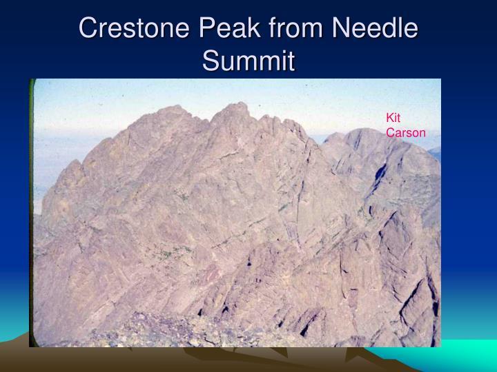 Crestone Peak from Needle Summit
